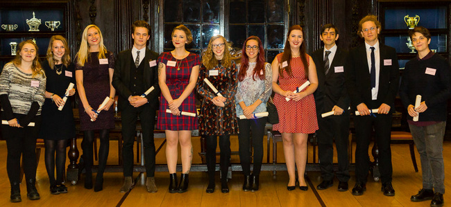 Stationers Bursaries awarded in 2016